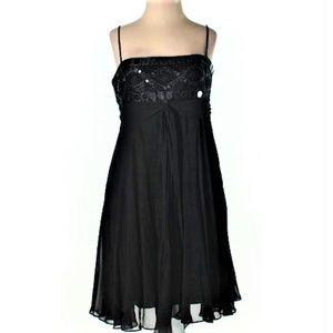 BCGBMaxAzria Cocktail Silk Dress Paillette Beads 4